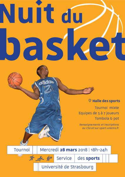 Du Nuit Service Sports BasketMercredi Des Mars 28 Université TKlJF1c